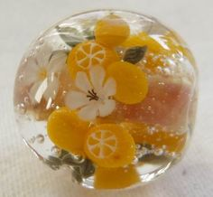 citrus glass bead