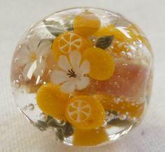 citrus glass bead