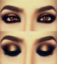 Black and gold eyeshadow