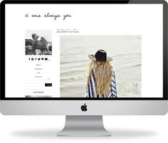 pre-made blogger template // it was always you