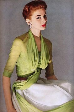 Fashion photography by Horst P. Horst for Vogue, 1950s.