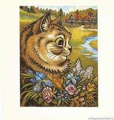 Louis Wain Monarch of the Garden Art Print