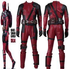 New Fantasia 2 Deadpool Movie Cosplay Hero Custom-made Full Set Adult Men Zipper