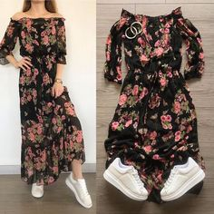 Girls Fashion Clothes, Teen Fashion Outfits, Girly Outfits, Classy Outfits, Stylish Outfits, Fashion Dresses, Frock For Teens, One Piece Dress Short, Western Outfits Women