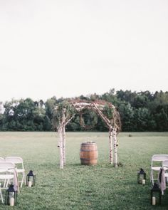 Rustic ceremony: http://www.stylemepretty.com/little-black-book-blog/2014/10/07/rustic-elegant-williamsburg-winery-wedding/ | Photography: Katie DeLorme - http://katiedelorme.com/