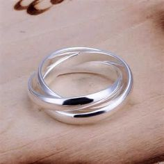 Cheap wedding rings, Buy Quality men fashion ring directly from China men ring Suppliers: Wholsale New Beautiful women& men rings Fashion jewelry silver plated wedding ring Three Circles anel feminino joias Sterling Silver Jewelry, Silver Rings, 925 Silver, Silver Charms, Silver Bracelets, Sell Silver, Fashion Rings, Fashion Jewelry, Women Jewelry