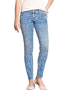 Womens The Rockstar Floral-Printed Jeans