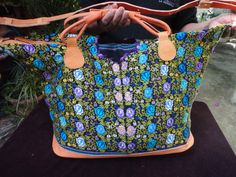 GIFT IDEA SALE Handmade big bag made of by handmadewithart on Etsy, $89.00