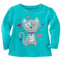 Aliexpress.com  Comprar Gato azul Chicas Camisetas de Manga Larga 2016  Otoño Bebé Ropa de Abrigo Niños Camisetas Tops Ropa de Niños Vestido de La  Muchacha ... 24ff9006c125