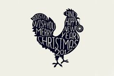 Rooster for New Year Lettering by ilonitta on @creativemarket My #rooster #lettering on #creativemarket