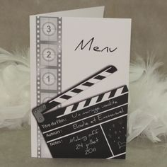 Menu mariage clap cinémà, Mon Mariage MM04-CIN-8