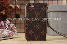 Luxury Louis Vuitton iphone 5 5S Flip Leather Case Design Monogram