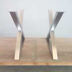 Brushed stainless steel table legs .. Stainless Steel Table Legs, Metal Table Legs, Dining Table Legs, Brushed Stainless Steel, Steel Sofa, Sofa Legs, Design Projects, Kitchen, Furniture