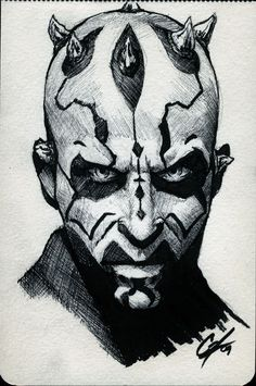 DCC Darth Maul Con Sketch by gattadonna on deviantART