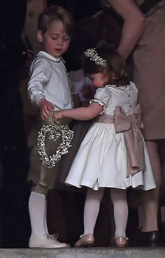 Kate Middleton Photos Photos - Britain's prince George (L), a pageboy, attends the wedding of his aunt Pippa Middleton to James Matthews at St Mark's Church on May 20, 2017 in Englefield Green, England. - Wedding of Pippa Middleton and James Matthews