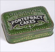 Early 1900s confectionery tin: Wilkinson's Perfected Pontefract Cakes