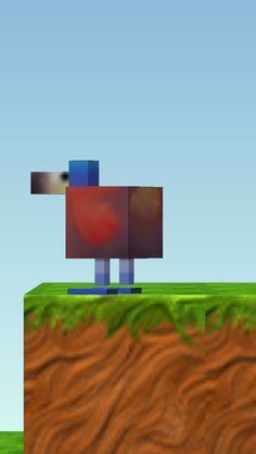 The blockheads is a minecraft-like game (get it it's funnnnnn) and on the app store *picture of a dodo bird above*