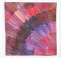 """Fairy Land by Tuula Mäkinen.  """"I like to start by making a fairly simple quilt, and then bring out the actual theme by adding dense and decorative quilt stitching.""""  Open European Quilt Championships 2016."""