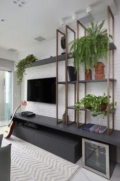 Tv Unit Interior Design, Interior Design Living Room, Home Living Room, Living Room Decor, Bedroom Decor, Living Room Tv Unit Designs, Muebles Living, Home Tv, House Design