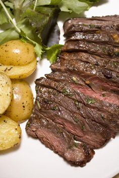 This grilled flank steak recipe is a great make ahead meal item. You can marinade it overnight and have it ready for dinner the next day. Serve with sauteed onions for an added treat.