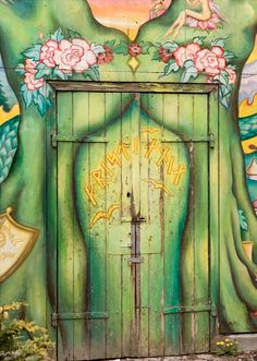 Picture of A detail of a door in Christiania - an occupied area of Copenhagen, Denmark stock photo, images and stock photography. Doors Galore, Big Doors, Arch Doorway, Aesthetic Images, Copenhagen Denmark, Life Lessons, Gate, Art Photography, Windows
