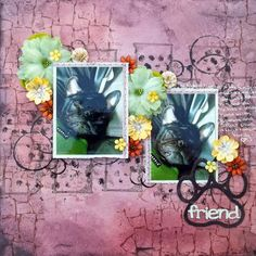 Newest member of the family~ used the sketch from Once Upon A Sketch #scrapbooking #mixedmedia #papercraft #scrapbook #papercrafting #flowers