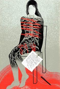 """August 26, 2013 -- """"I had an autoimmune disorder, but now it seemed to have me."""" Meghan O'Rourke on living with autoimmune disease (subscription required): http://nyr.kr/1eNhF2w (Illustration by Anna and Elena Balbusso.)"""