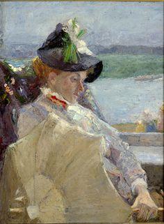 Jan Toorop (1858-1928) - Dame à l'ombrelle, 1888