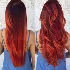 summer hair colors New: 10 most inspiring models The summer hair color trends New Hairstyle Trends are already here, our site offers free all the latest hair trends to inspire you. Discover a collection of the most fashionable colors this summer. Hair Color 2016, Red Hair Color, Cool Hair Color, Hair Colors, Color For Long Hair, Red Hair For Summer, Red Orange Hair, Summer Hairstyles, Pretty Hairstyles