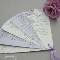 folding petal wedding program fan