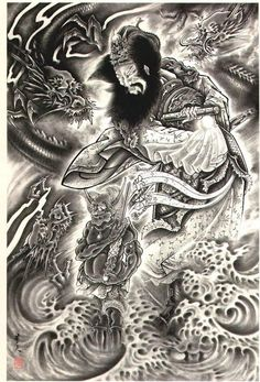 Now this is a great Japanese tattoo that would look great on your back