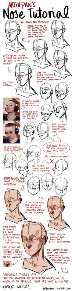 Human Figure Drawing Reference Nose Tutorial by artofpan on DeviantArt - Drawing Skills, Drawing Poses, Drawing Techniques, Drawing Tips, Drawing Ideas, Sketch Ideas, Doodle Drawing, Anatomy Drawing, Human Anatomy