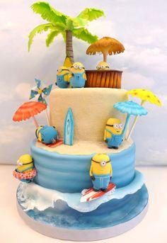 Minions 2 Beach Cake Celebration | Cemlyn Cakes | Portishead | Church Stretton