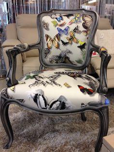 Fotelik w stylu ludwika xv w ptaki studio rococo meble francuskie meble - Tissu christian lacroix ...