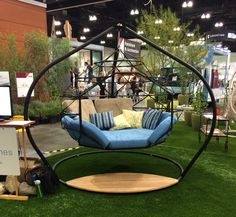 Favorites from Dwell on Design 2015 Lots of goodies from Dwell on Design's anniversary show. Iron Furniture, Garden Furniture, Furniture Design, Hanging Beds, Hanging Chair, Nest Chair, Dwell On Design, Outdoor Hammock, Diy Home Decor