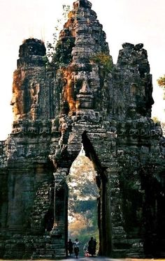 Funny pictures about The Old Gate Of Angkor Thom. Oh, and cool pics about The Old Gate Of Angkor Thom. Also, The Old Gate Of Angkor Thom photos. Places Around The World, Oh The Places You'll Go, Travel Around The World, Places To Travel, Places To Visit, Around The Worlds, Travel Destinations, Cambodia Destinations, Travel Deals