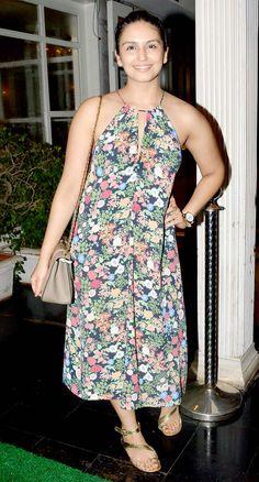 Huma Qureshi at the birthday bash of casting director Shanoo Sharma. #Bollywood #Fashion #Style #Beauty