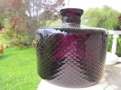 Very Beautiful Vintage Amethyst Glass Bottle by girlofsumr on Etsy, $27.00