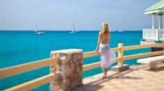 Sonesta Maho Beach Resort & Casino in St. Maarten. Look at the color of that water!