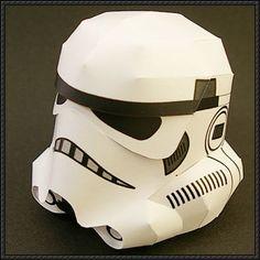 Star Wars - Stormtrooper Helmet Ver.3 Free Papercraft Download