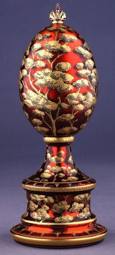 """(3) FABERGE eggs__Theo Fabergé __ """" Cherry Blossom""""  Egg"""