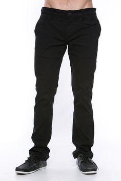 Foreign Exchange :: MEN :: BOTTOMS :: PANTS :: BLACK STRETCH DENIM PANTS