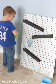 Simple Pegboard Marble Run