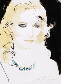 David Downton - Cate Blanchett Cover Art for Australian Vogue