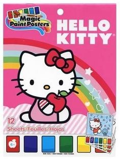 Kids' Paint With Water Kits - Hello Kitty Magic Paint Poster Book  12 Posters 6 x 8 by SAVVI STUFF >>> You can find out more details at the link of the image.