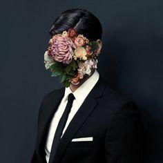 Flower Face Portrait Photography Art Contemporary Surrealism Collage No Face Photoshop, Collages, Collage Art, The Wicked The Divine, Art Photography, Fashion Photography, Photocollage, Art Design, Art Plastique