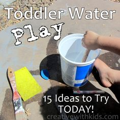 playing with toddlers & water