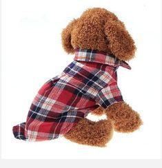 Check out: FASHIONABLE PLAID PET SHIRT SUMMER DOG SHIRT CASUAL DOG TOPS DOG CLOTHES PUPPY OUTFITS PET CLOTHING FOR SMALL DOGS