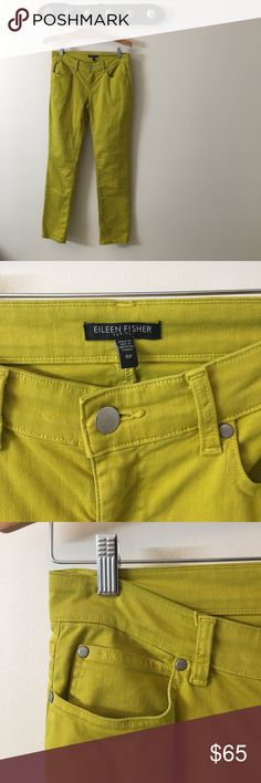 Eileen Fisher Mustard Skinny Jeans Adorable Eileen Fisher skinnys - Mustard yellow. Excellent used condition! Eileen Fisher Pants Skinny