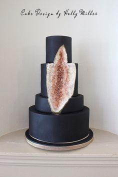 Black Geode Cake